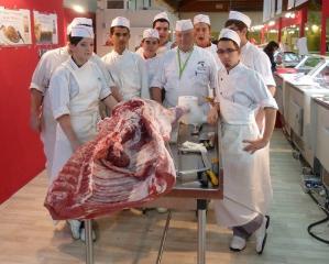 Section Bac Pro boucherie & professeur